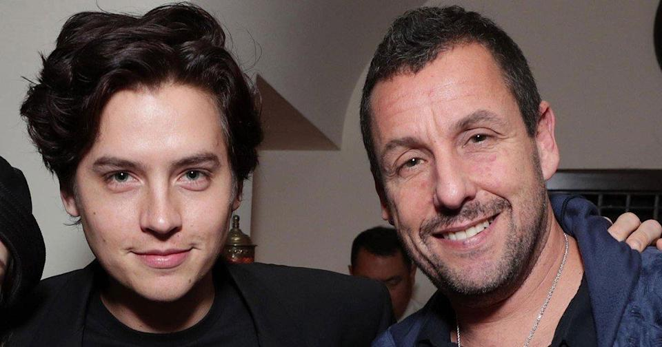 Big Daddy Reunion! Cole Sprouse Supports Movie Dad Adam Sandler at Uncut Gems Premiere