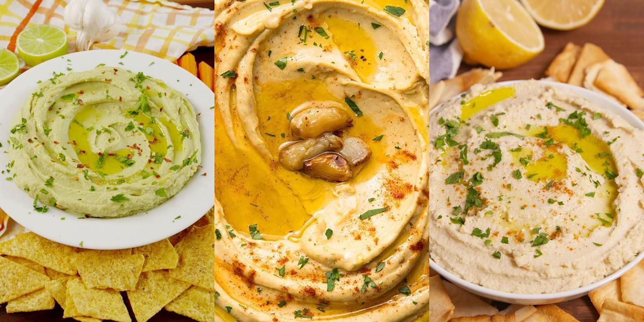 "<p>Hummus is one of the best dips going (you heard me). It's creamy, versatile and SO incredibly easy to make. Plus, you can dunk just about anything into it: pitta bread, carrots, breadsticks...the list goes on. Now, as much as we love a <a href=""https://www.delish.com/uk/cooking/recipes/a34092710/best-homemade-hummus-recipe/"" target=""_blank"">Classic Homemade Hummus</a>, we're also big on <a href=""https://www.delish.com/uk/cooking/recipes/a29947652/avocado-hummus-recipe/"" target=""_blank"">Avocado Hummus</a>, <a href=""https://www.delish.com/uk/cooking/recipes/a29984491/cauliflower-hummus-recipe/"" target=""_blank"">Cauli Hummus</a> and even <a href=""https://www.delish.com/uk/cooking/recipes/a34092981/chocolate-peanut-butter-hummus-recipe/"" target=""_blank"">Chocolate Peanut Butter Hummus</a> (don't knock it till you've tried it). Check out our fave hummus recipes now. </p>"
