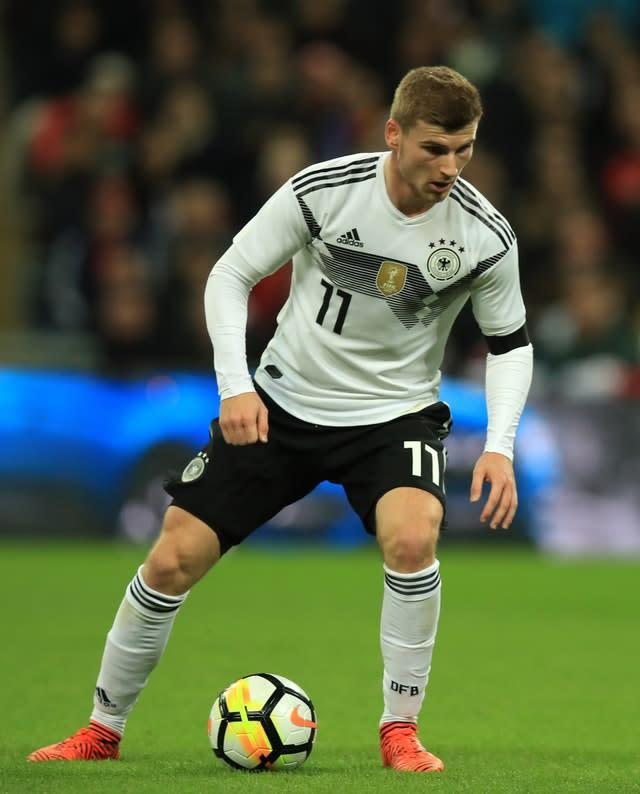 Germany's Timo Werner has reportedly come under the attention of Chelsea (Mike Egerton/PA)