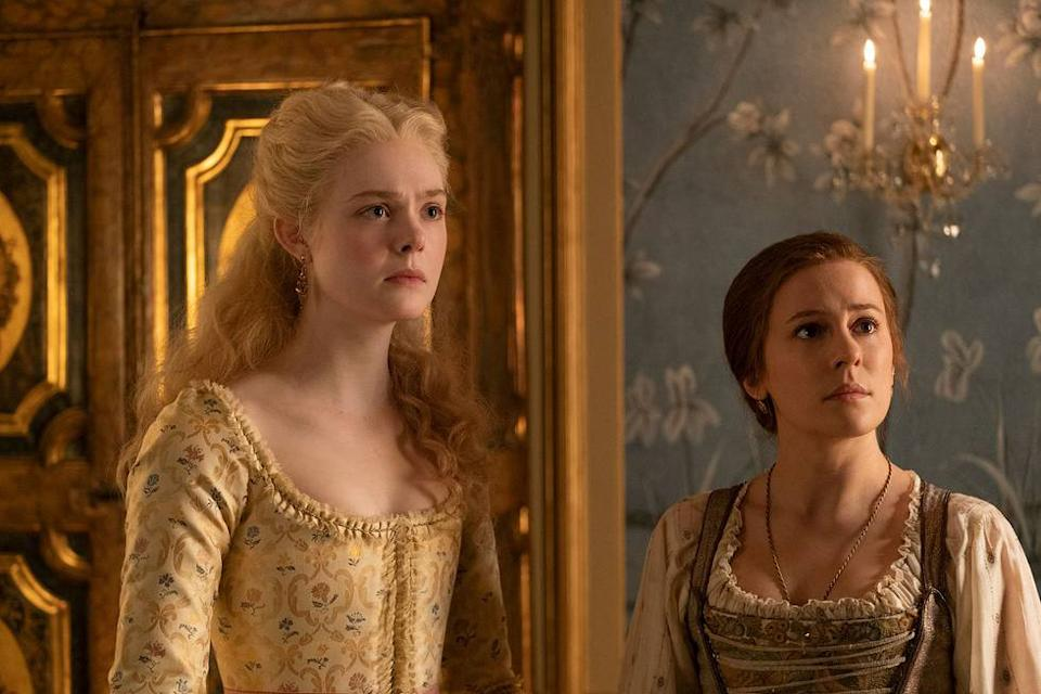 Elle Fanning as Catherine the Great and Phoebe Fox (C4)