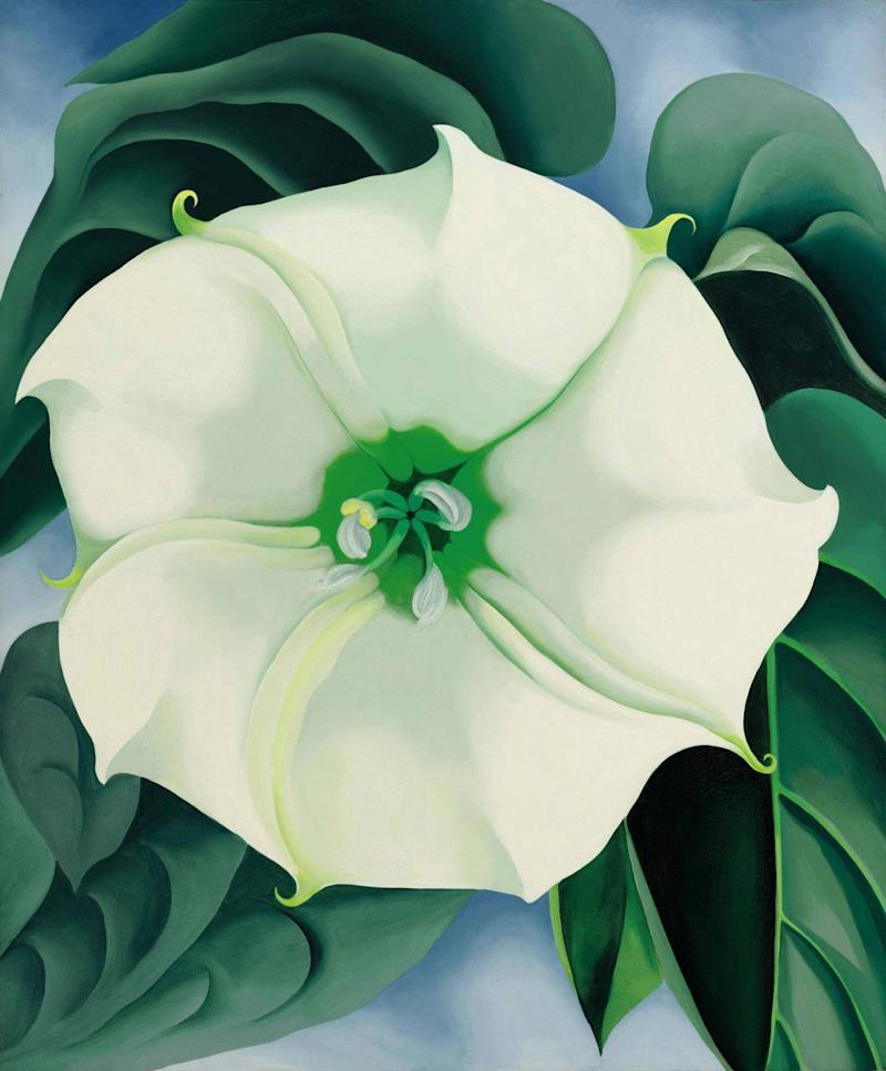 'Jimson Weed/White Flower No 1' by Georgia O'Keeffe, 1936 (AP)