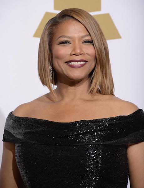 Queen Latifah poses in the press room at the 56th annual Grammy Awards at Staples Center on Sunday, Jan. 26, 2014, in Los Angeles. (Photo by Dan Steinberg/Invision/AP)