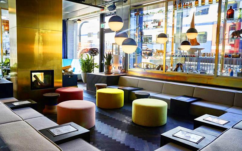 25hours Hotel Zurich Langstrasse's sociable co-working spaces are perfect for relaxing or working