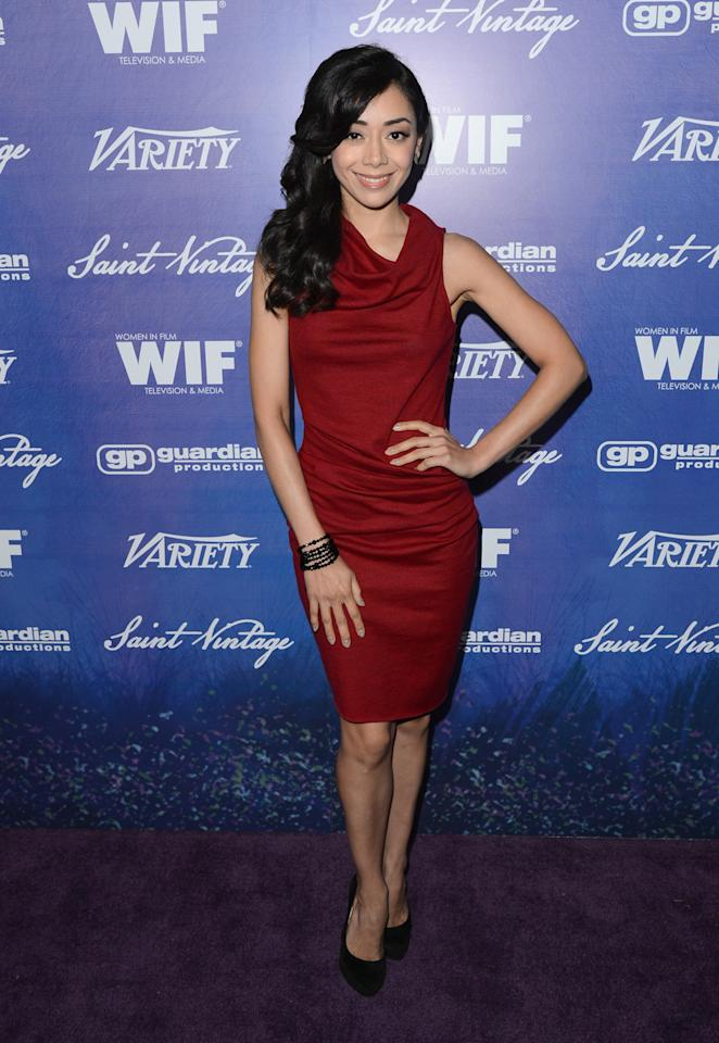 Actress Aimee Garcia arrives at Variety and Women in Film Pre-EMMY Event presented by Saint Vintage at Montage Beverly Hills on September 21, 2012 in Beverly Hills, California.  (Photo by Jason Merritt/WireImage)