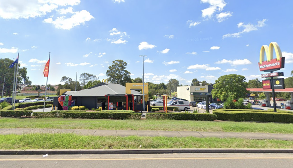 A McDonald's restaurant in Bonnyrigg has been added to the list of exposure sites. Source: Google Maps