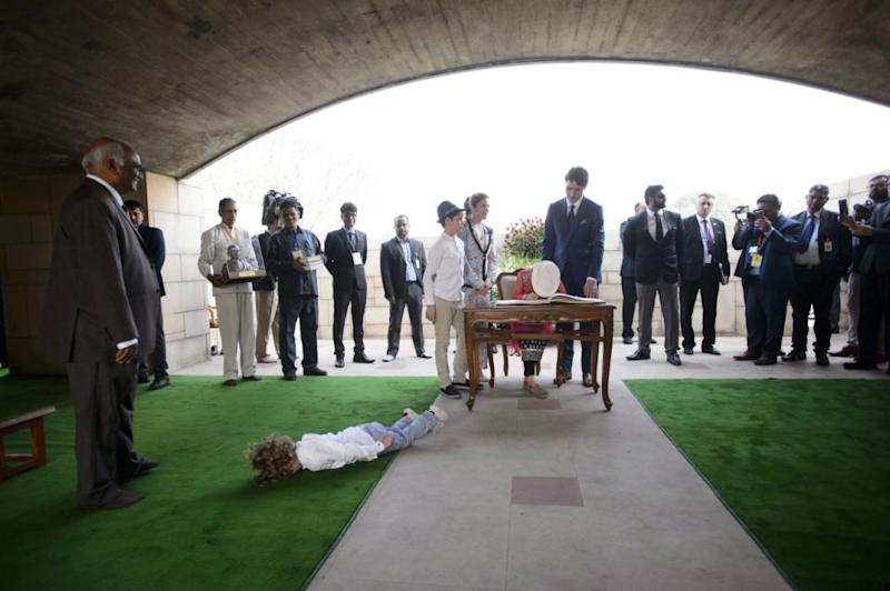 Justin Trudeau's son, Hadrien threw a tantrum of epic proportions on the family's recent trip to India. Photo: AAP
