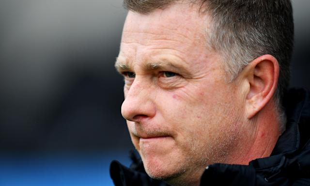 Mark Robins looks on from the touchline as his Coventry City side face Barnet.