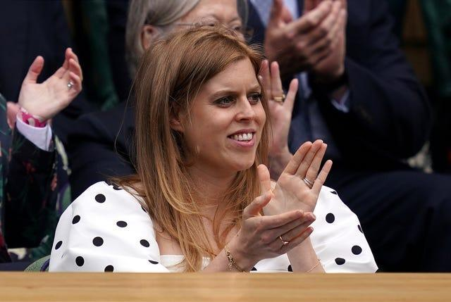 Princess Beatrice enjoyed a day the tennis on Thursday
