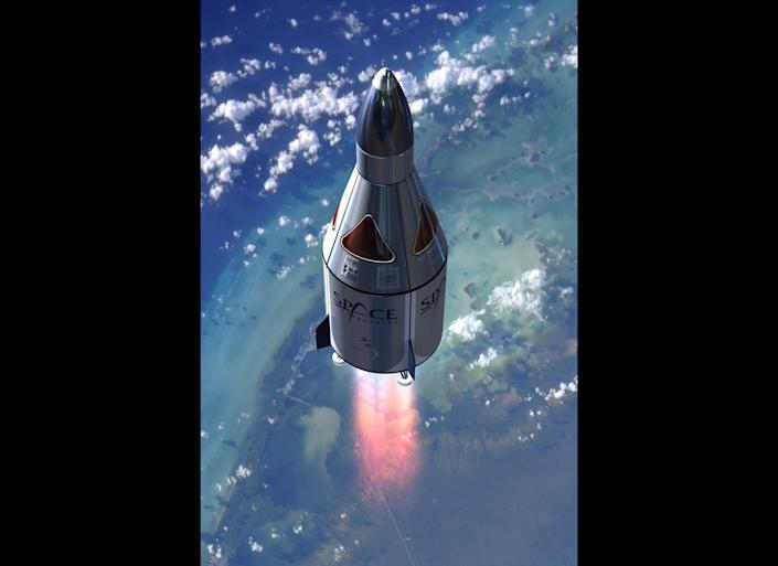 Space Adventures, a company that has sent seven private citizens to the International Space Station, <a href=&quot;http://www.spaceadventures.com/index.cfm?fuseaction=news.viewnews&amp;newsid=791&quot; target=&quot;_hplink&quot;>announced in 2010</a> that it would partner with Armadillo Aerospace to provide suborbital spaceflights. The <a href=&quot;http://www.spaceadventures.com/index.cfm?fuseaction=suborbital.Vehicle_Design&quot; target=&quot;_hplink&quot;>two-passenger rocket</a> will land and take-off vertically and allow for a 360-degree view of the earth below. According to Jaunted, the rocket will travel 62 miles above the earth. <a href=&quot;http://www.engadget.com/2010/05/13/space-adventures-undercuts-virgin-galactic-announces-100-000/&quot; target=&quot;_hplink&quot;>Engadget reports</a> that a flight to space will set you back $102,000.