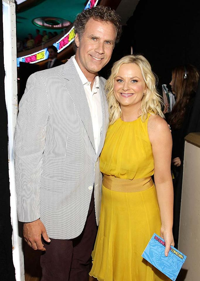 """SNL"" alums Will Ferrell and Amy Poehler were all smiles at the show, maybe because Amy got to present the Do Something Comedian award to her pal Will. Christopher Polk/<a href=""http://www.gettyimages.com/"" target=""new"">GettyImages.com</a> - August 14, 2011"