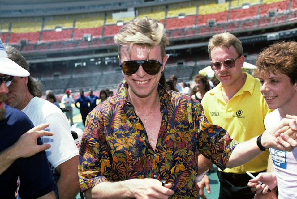 <p>Bowie is all the style inspiration a person turning 40 needs: effortlessly cool. The year he turned 40, Bowie released the record Never Let Me Down.</p>