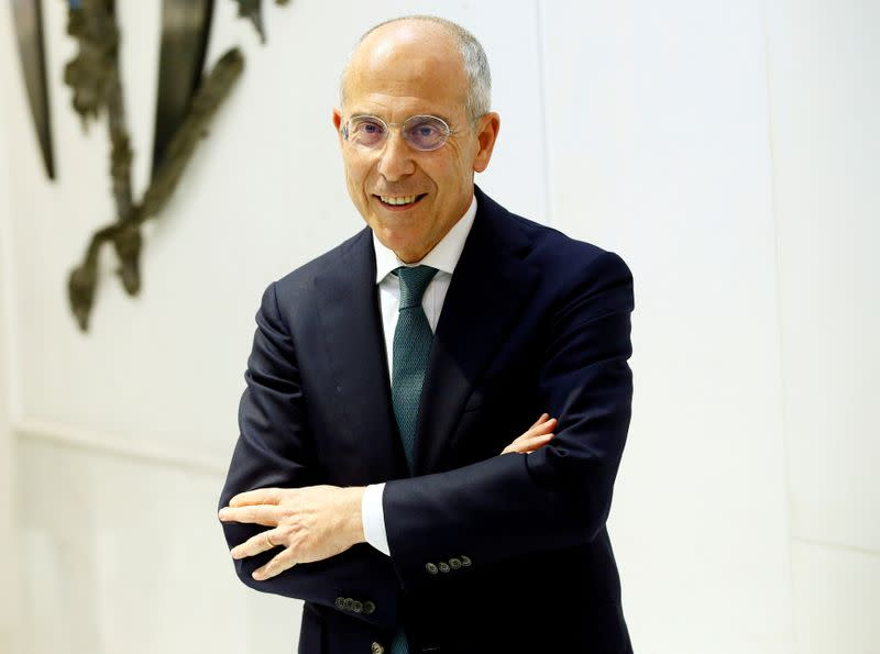 FILE PHOTO: General manager and CEO of Enel Group Francesco Starace poses during 2018 Reuters Breakingviews Predictions event in Milan