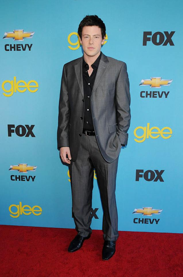 "<a href=""/cory-monteith/contributor/1286853"">Cory Monteith</a> (""Finn Hudson"") arrives at Fox's <a href=""/glee/show/44113"">""Glee""</a> Spring Premiere Soiree at Chateau Marmont on April 12, 2010 in Los Angeles, California."