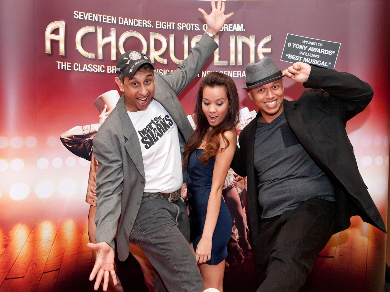 Celebrities at The Chorus Line's Red Carpet event. (Yahoo! photo/Alvin Ho)
