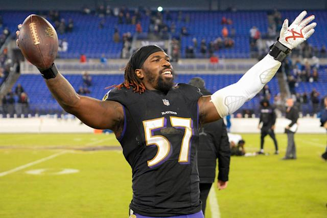 C.J. Mosley, now headed to the New York Jets, accumulated nearly 600 tackles during his time with the Baltimore Ravens. (Photo by: 2018 Nick Cammett/Diamond Images/Getty Images)