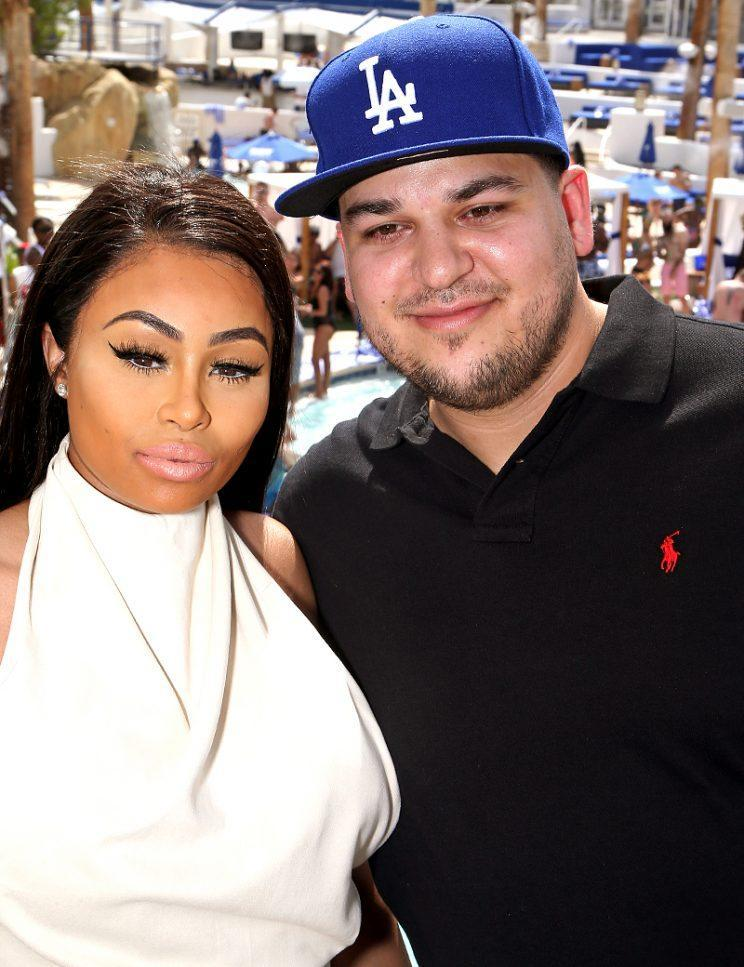 Blac Chyna (L) and television personality Rob Kardashian attend the Sky Beach Club at the Tropicana Las Vegas on May 28, 2016 in Las Vegas, Nevada.