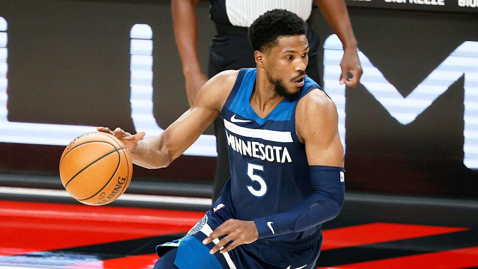 Seen here, Malik Beasley has been in good form for the struggling Timberwolves in 2021.