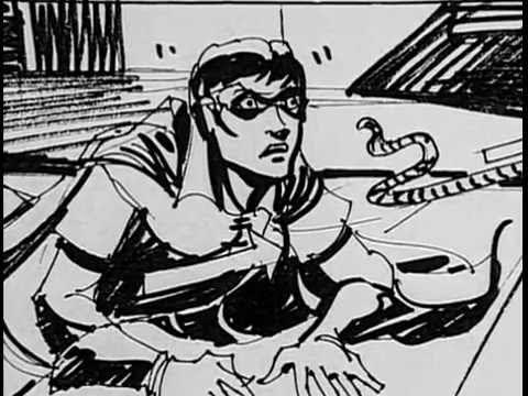 Dick Grayson's Robin as he appeared in storyboards for a deleted scene in 'Batman' (Photo: YouTube)