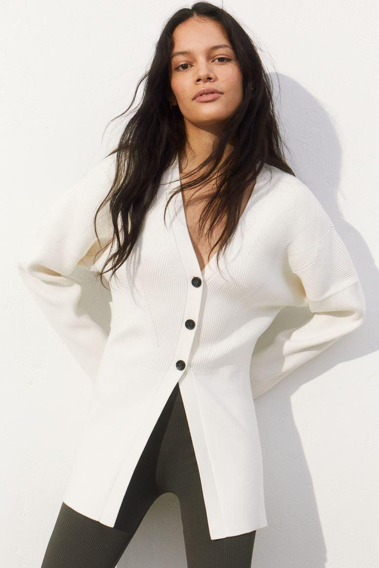 <p>This sleek <span>H&amp;M Rib-Knit Cardigan</span> ($50) is the perfect piece to take me from winter to spring.</p>