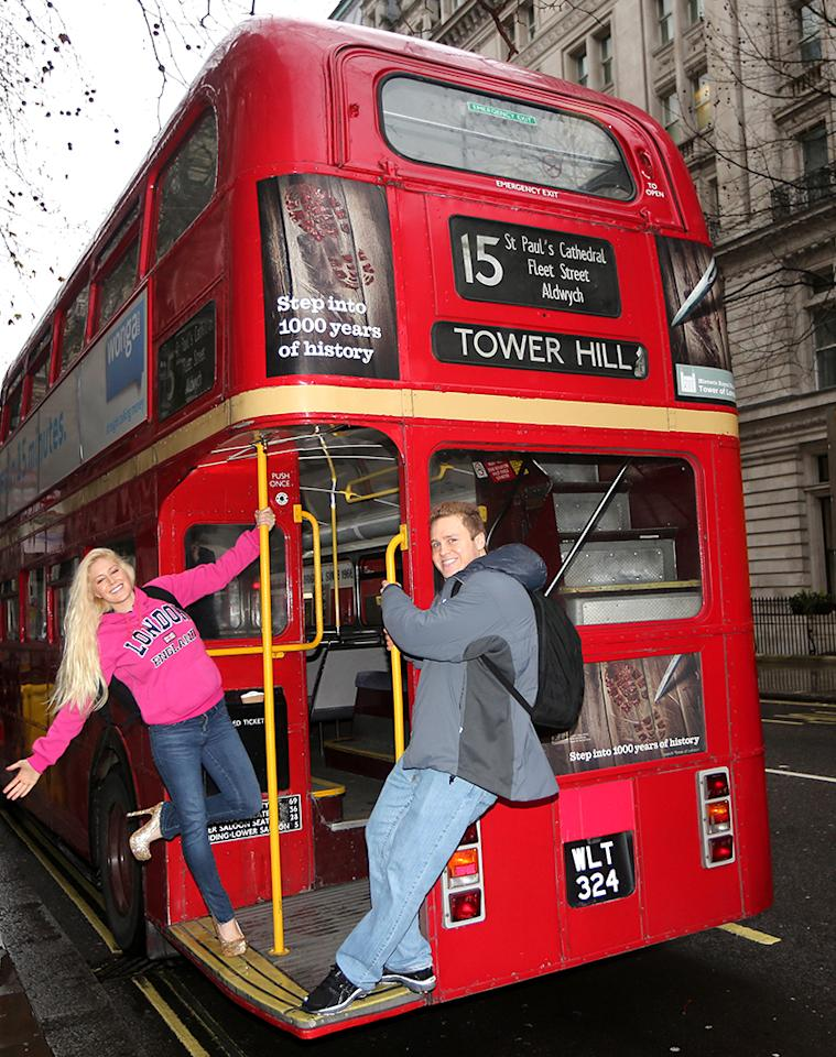 EXCLUSIVE: Spencer Pratt and Heidi Montag arrive in London. The pair are reportedly set to star in 'Celebritiy Big Brother', which begins filming soon.