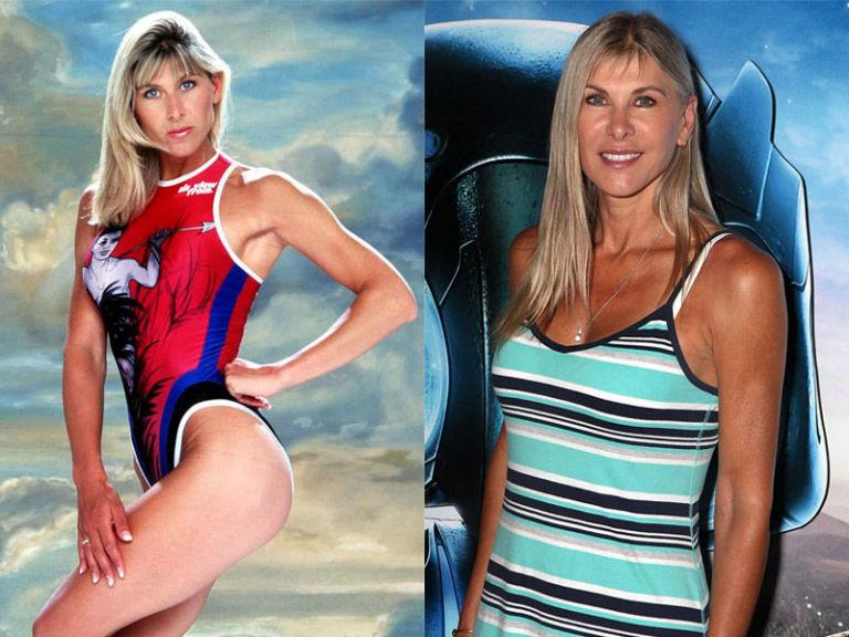 "<p>Yes, swimmer Sharron Davies <em>was</em> a Gladiator. She kicked ass as Amazon in 1996. Prior to taking part in the show, the professional swimmer won a silver medal in the 400-metre individual medley at the 1980 Olympics in Moscow, and two gold medals at the 1978 Commonwealth Games.</p><p>After pulling out of<em> Gladiators</em> following a knee injury, Sharron continues to provide sports commentary for the BBC, is a patron of several children's charities, and returned to ITV in 2010 for <em><a rel=""nofollow"" href=""http://www.digitalspy.com/tv/dancing-on-ice/"">Dancing on Ice</a></em>.</p><p>During her time on the celebrity skating competition, poor Sharron fell foul to the acid-tongued judge Jason Gardiner, who was forced to apologise to the athlete after <a rel=""nofollow"" href=""http://mediaos.digitalspy.com/tv/s101/dancing-on-ice/news/a210662/jason-gardiner-i-didnt-go-too-far.html"">comparing her to ""faecal matter that won't flush""</a> following one performance.</p>"