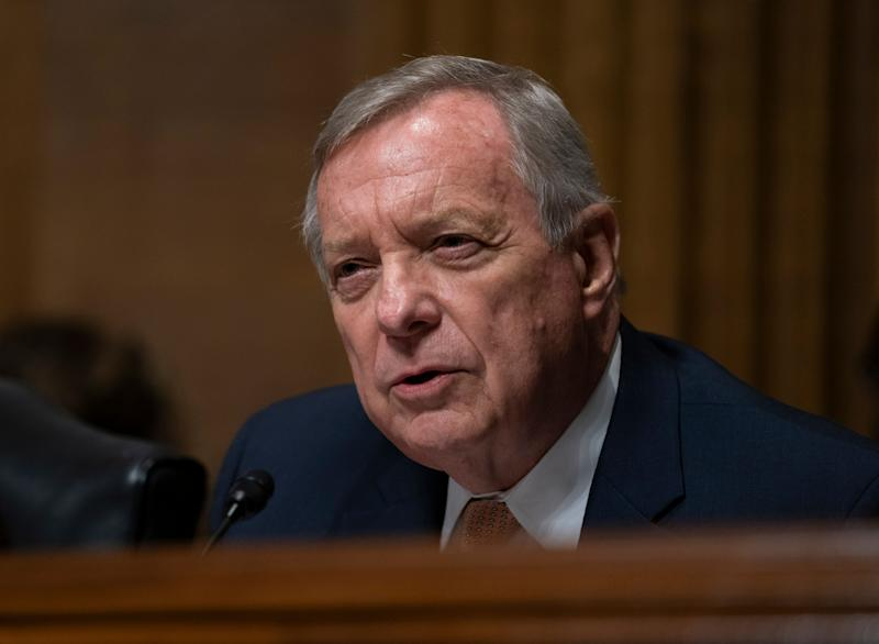 Sen. Dick Durbin (D-Ill.) is wondering what is up with all these unqualified people getting lifetime appointments to federal court seats. (Photo: ASSOCIATED PRESS)