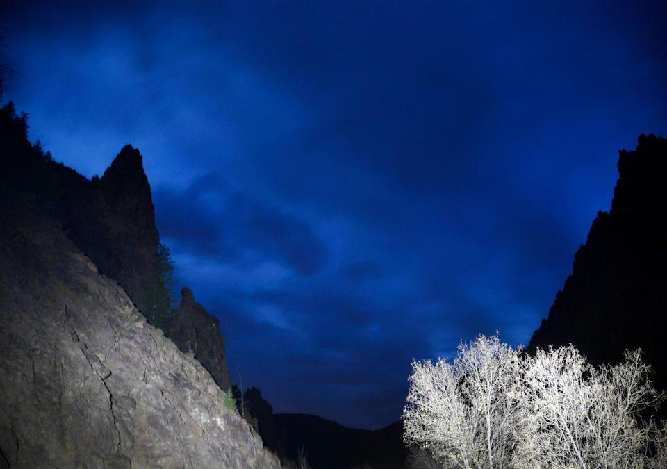 <p>Night falls over the Black Canyon of the Gunnison National Park, Colorado // October 20, 2017</p>
