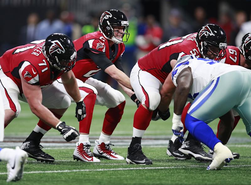 Atlanta Falcons quarterback Matt Ryan will try to lead his team to a big win in Seattle on Monday night. (AP)