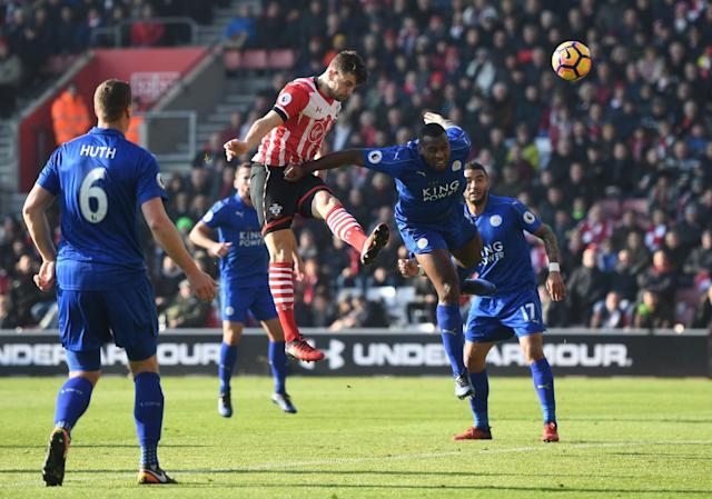 <p>Jay Rodriguez heads for goal </p>