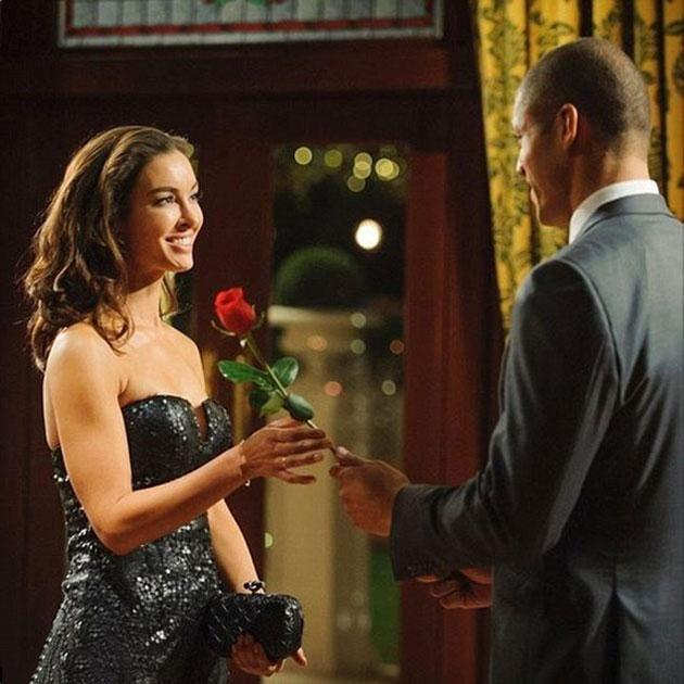 With Blake Garvey two years ago on The Bachelor. Source: Channel 10