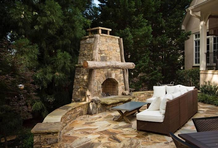 Fire pits are popular options for transforming outdoor spaces, said George Crump, a Charlotte-area design consultant with The Stone Man.