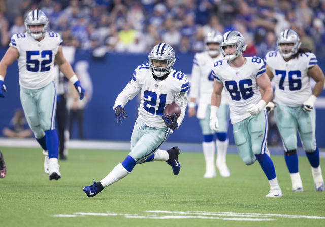 The Dallas offense revolves around the hard running of Ezekiel Elliott