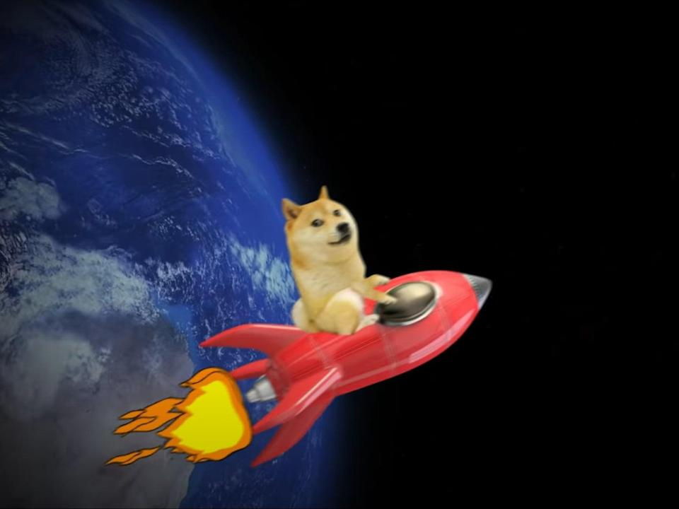 Elon Musk said he would use SpaceX to send dogecoin into space, sharing the meme video 'To the moon' by Herr Fuchs on Twitter (Herr Fuchs/ YouTube)
