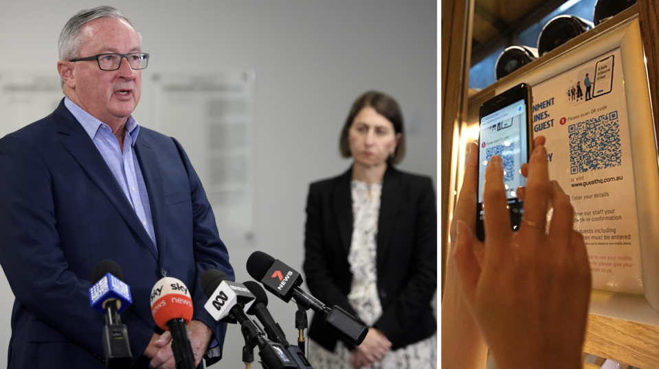 NSW Health Minister Brad Hazzard has made a major announcement about NSW venues. (Source: Getty)
