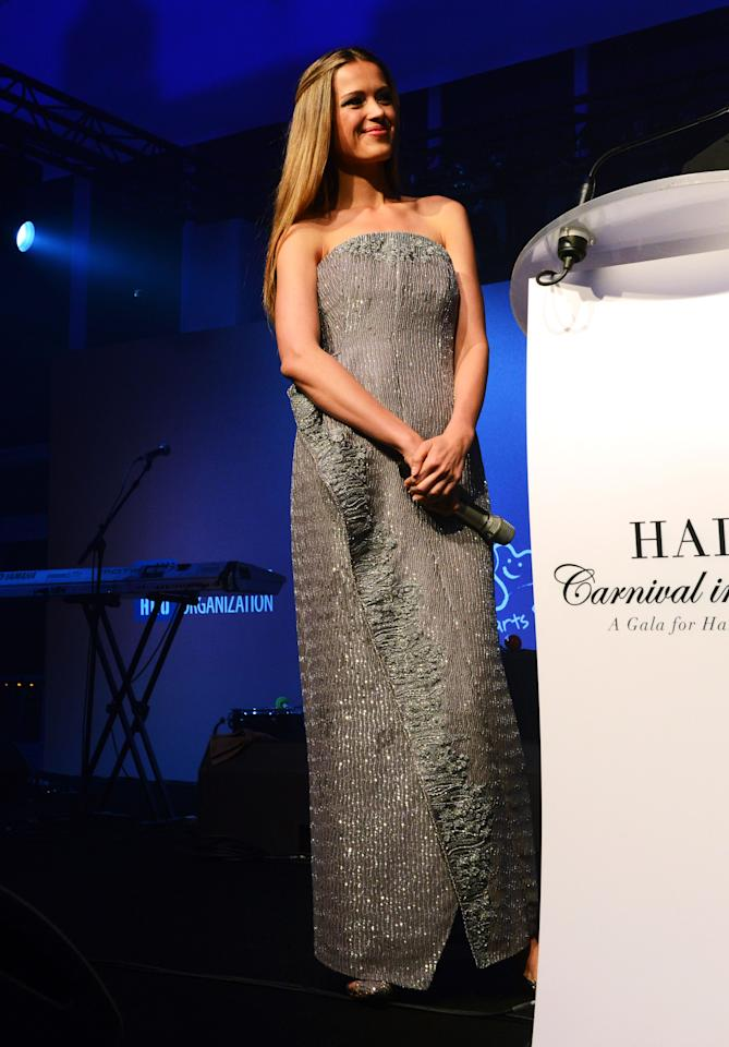CANNES, FRANCE - MAY 18:  Model Petra Nemcova attends the Haiti Carnival in Cannes Benefitting J/P HRO, Artists for Peace and Justice & Happy Hearts Fund Presented By Armani during the 65th Annual Cannes Film Festival on May 18, 2012 in Cannes, France.  (Photo by Michael Buckner/Getty Images)