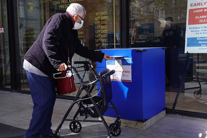 The widespread use of ballot drop boxes, vote-by-mail and other ballot options helped improve accessibility and voting experiences for people with disabilities during the 2020 elections, but Republican efforts to institute new voting restrictions are threatening that progress. (Photo: Scott Olson via Getty Images)