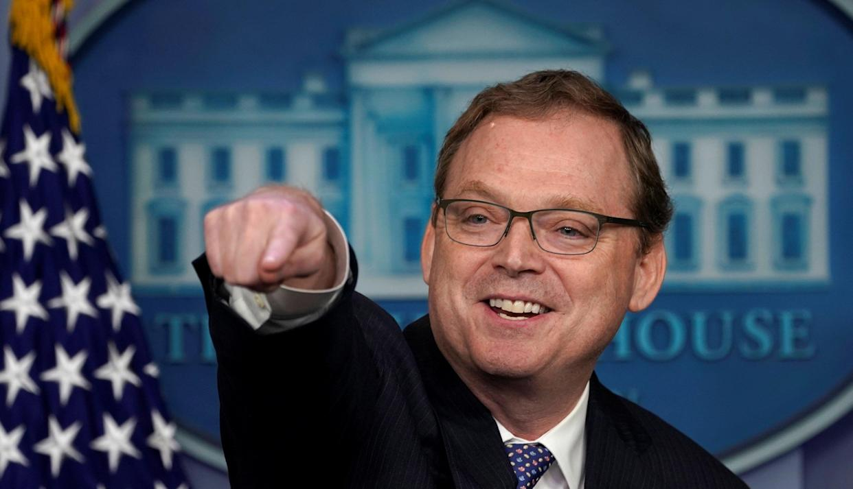 Kevin Hassett at a news briefing at the White House on Monday. (Photo: Kevin Lamarque/Reuters)