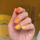 """<a href=""""https://www.glamour.com/gallery/mismatched-nail-art-ideas?mbid=synd_yahoo_rss"""" rel=""""nofollow noopener"""" target=""""_blank"""" data-ylk=""""slk:Skittles nails"""" class=""""link rapid-noclick-resp"""">Skittles nails</a> are still going strong. This lets you get in on the trend while still nodding to the holiday. Plus, it's about as easy to DIY as nail art comes."""