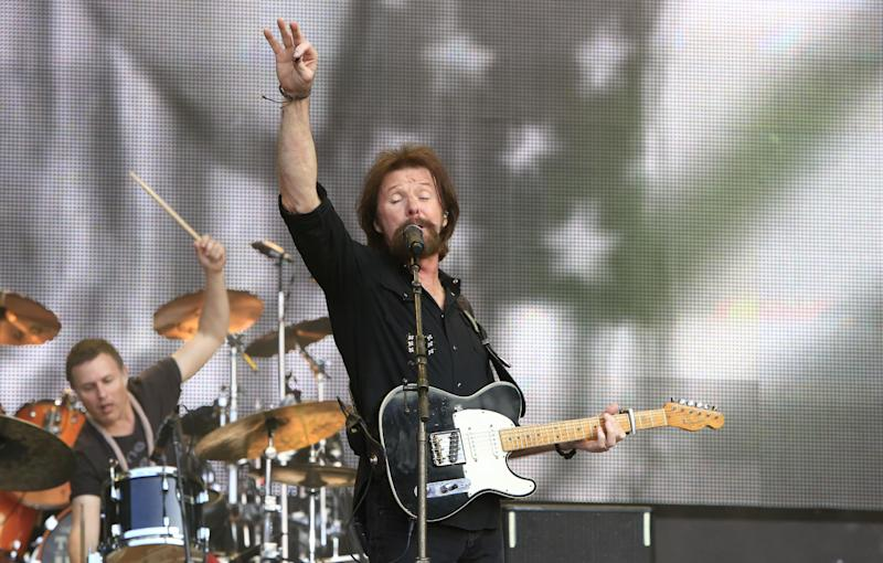 Ronnie Dunn performs at the Oklahoma Twister Relief Concert at the Gaylord Family-Oklahoma Memorial Stadium on Saturday, July 6, 2013 in Norman, Okla. (Photo by Alonzo Adams/Invision/AP)
