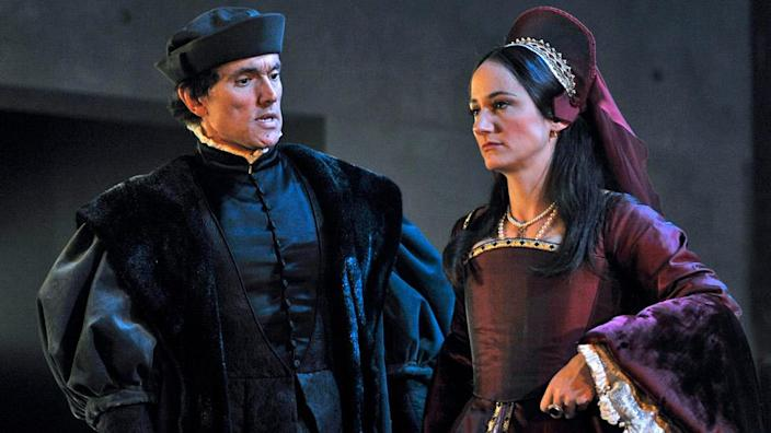 Ben Miles and Lydia Leonard in the RSC's Bring Up The Bodies