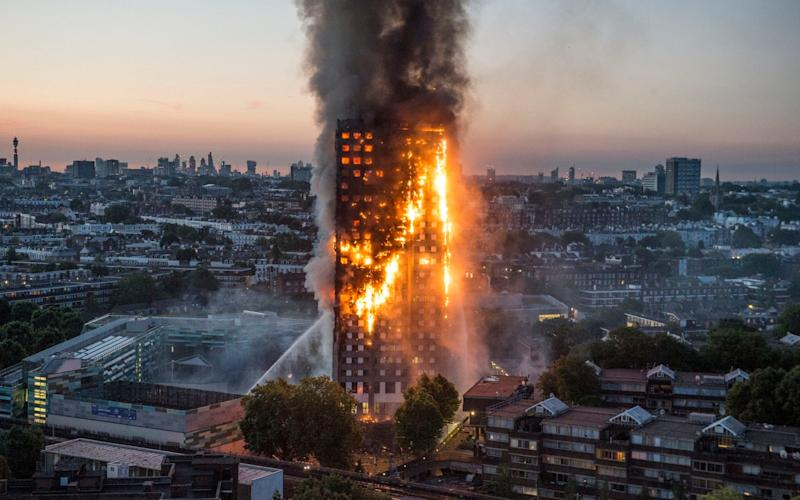 Grenfell residents were trapped 'screaming for their lives' as flames raged through the 27-storey tower block - Eyevine