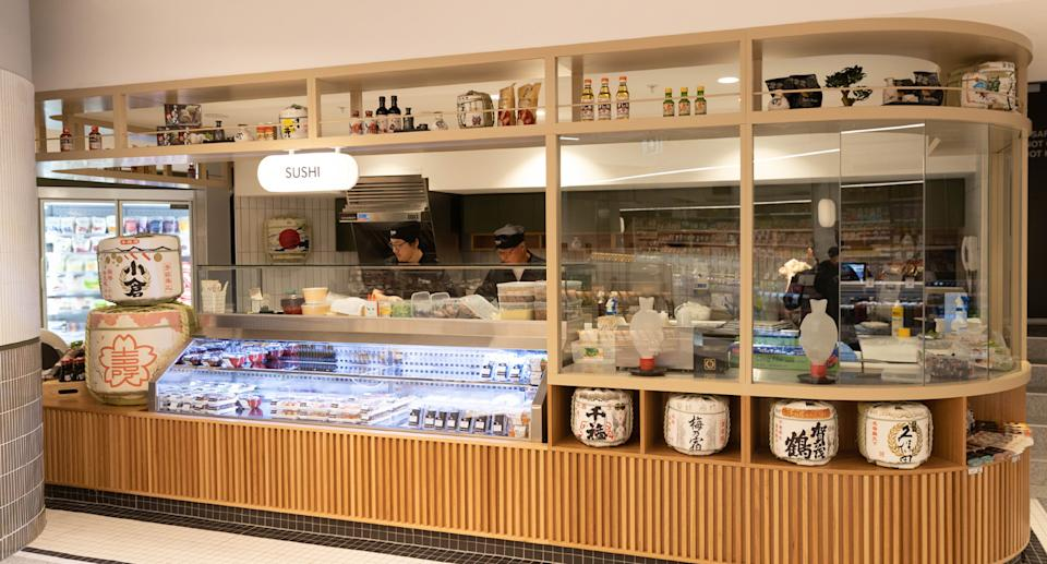 A sushi bar is among many other unique offerings inside the concept store. Source: Supplied