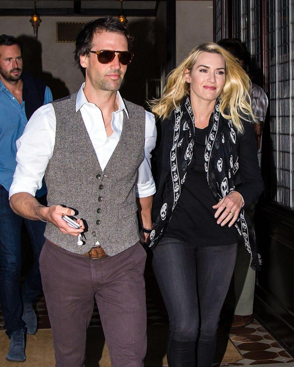 """<p>In 2012, Winslet married Rocknroll in a secret ceremony and the two have been going strong ever since. """"Thank God for Ned—really. He's just so incredibly supportive, and he's so much fun,"""" she said in the <a href=""""https://www.wsj.com/articles/kate-winslet-stars-in-the-highly-anticipated-film-steve-jobs-1443621106"""" rel=""""nofollow noopener"""" target=""""_blank"""" data-ylk=""""slk:same interview"""" class=""""link rapid-noclick-resp"""">same interview</a> with <em>WSJ</em>.</p>"""