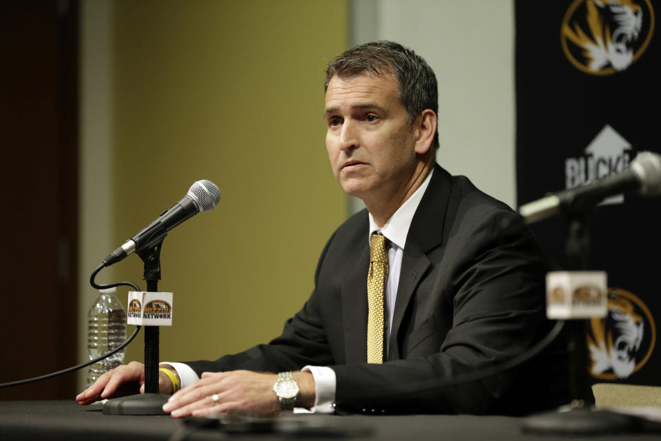 Mack Rhoades is leaving Missouri to become athletic director at Baylor. (AP)