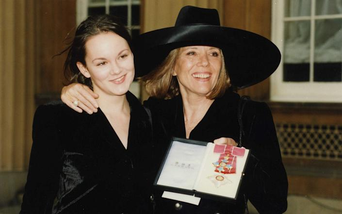 With her daughter, the actress Rachael Stirling, - Ken Mason