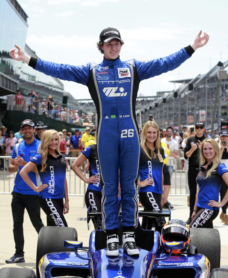 Leist leads every lap to win Freedom 100 on Carb Day