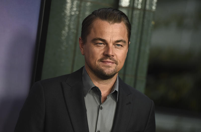 "Leonardo DiCaprio attends the Los Angeles premiere of ""Ice on Fire"" on Wednesday, June 5, 2019 at the Los Angeles County Museum of Art. (Photo by Jordan Strauss/Invision/AP)"