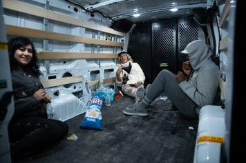 Reckless Ben and Jasmine sat in the back of a U-Haul van on the way to the Area 51 gate.