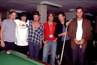 <p>Ron Wood, Keith Richards and Stone Temple Pilots on the Voodoo Lounge Tour in 1994 in Toronto, Ont. Canada.</p>