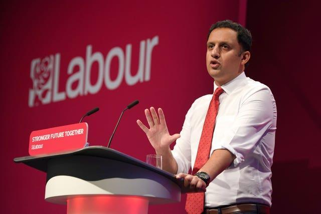 Scottish Labour Leader Anas Sarwar speaks at the Labour Party conference in Brighton